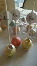 pearl and blush wedding cake pop