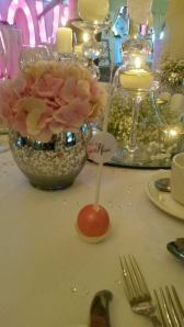 pink wedding cake pop