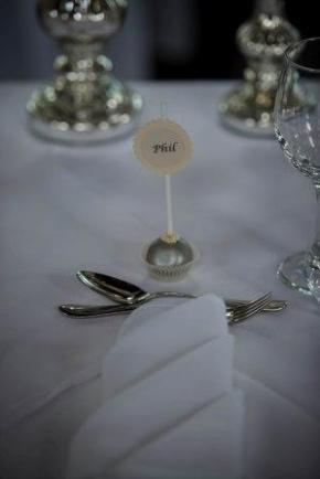 silver wedding favour