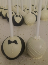 bride groom chocolate cake pop