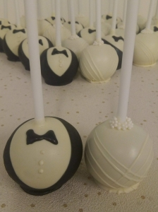 bride groom chocolate cake pop